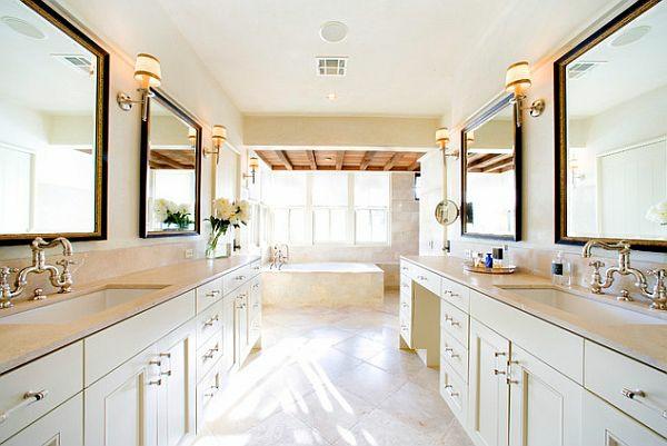 Badezimmer Ideen Spiegel : Moderne Badezimmer Ideen Luxus Komfort weiße einrichtung spiegel