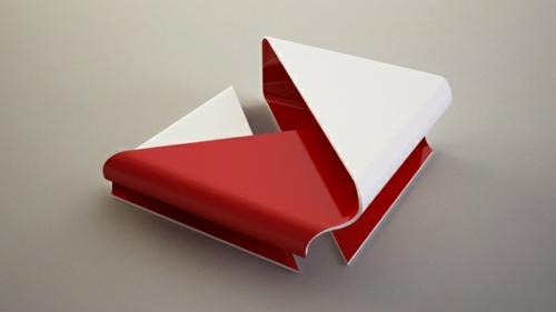 wohnzimmer rot weiß:Moderne attraktive Couchtische fürs Wohnzimmer platte rot weiß