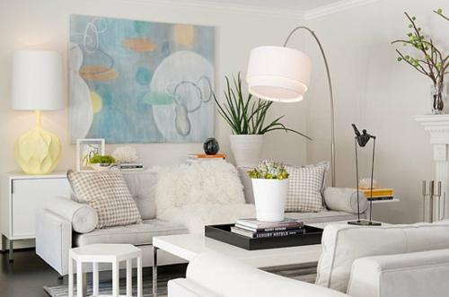 Entzuckend Pastell Farbpalette Beim Interieur Design Weich Texturen  Wohnzimmer