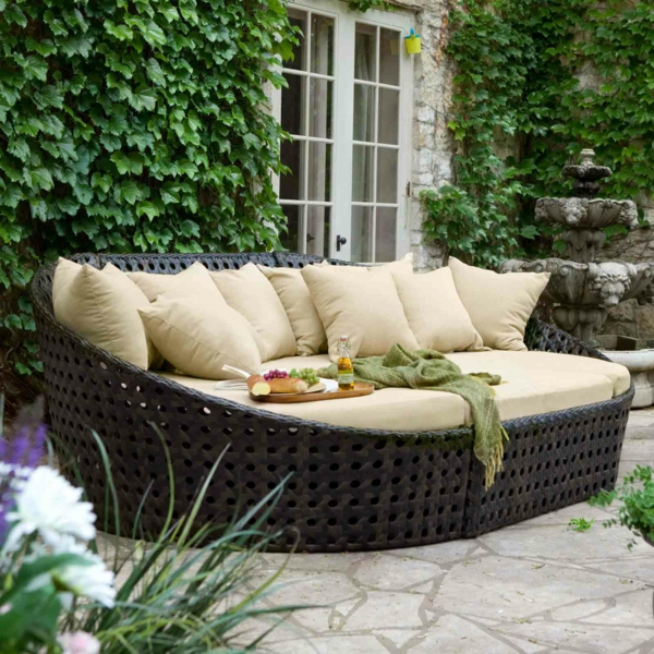 Alte Franzosische Gartenmobel : Gartenmöbel Sofa Lounge wohnlandschaft sofa sessel tisch hocker
