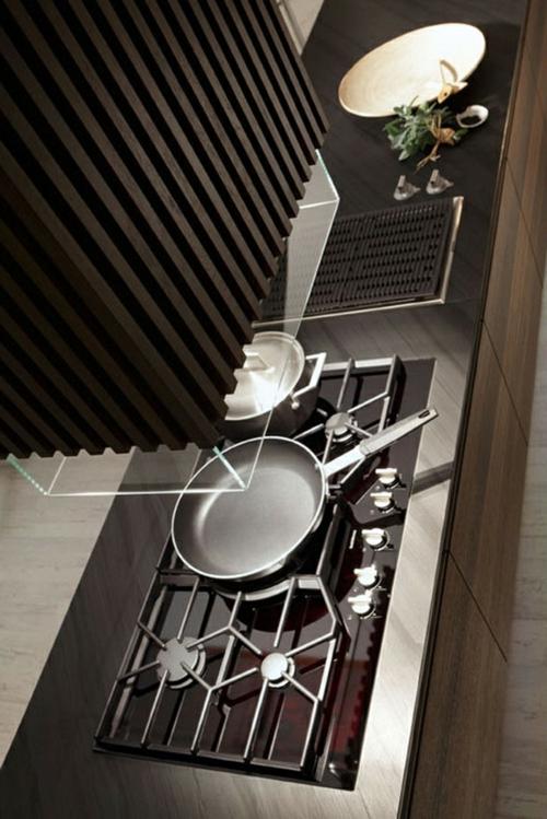 Raue ausgefallene Küchen Designs kochplatte herd pfanne