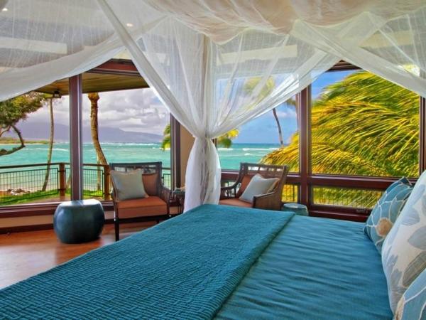 Immobilie auf Hawaii mit einem sehr kreativen Design luftig gardinen
