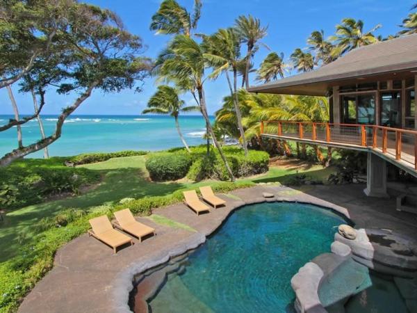 Residenz auf Hawaii mit einem sehr kreativen Design pool liegen