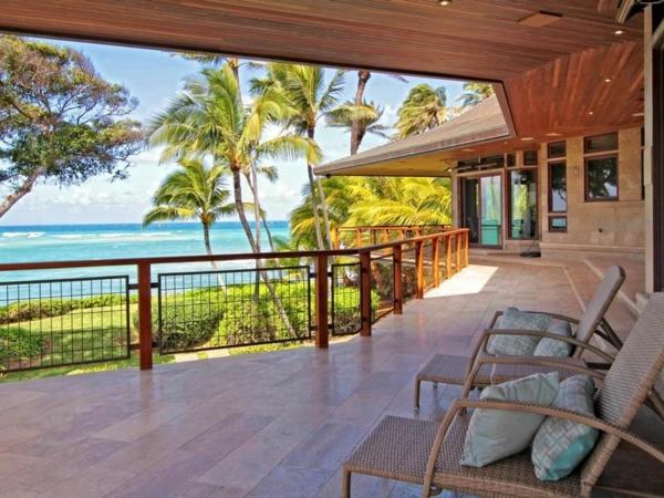 Residenz auf Hawaii mit einem sehr kreativen Design rattan liegen