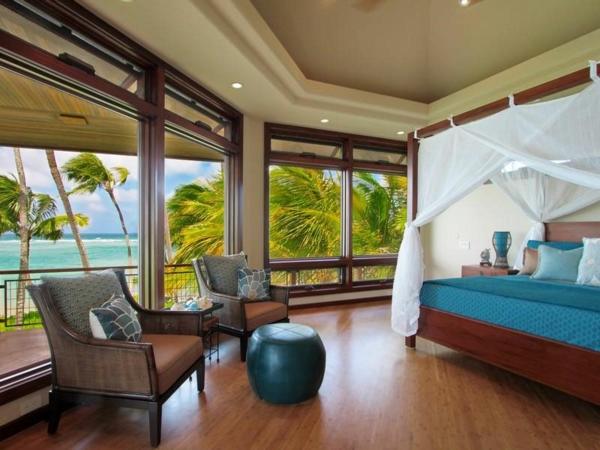 Residenz auf Hawaii mit einem sehr kreativen Design schlafzimmer himmelbett