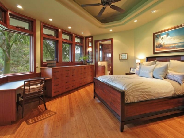 Residenz auf Hawaii mit einem sehr kreativen Design schlafzimmer holz