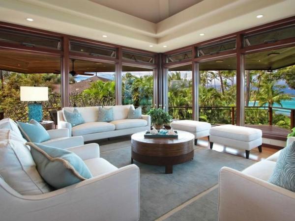Immobilie auf Hawaii mit einem sehr kreativen Design sitzecke massiv tisch