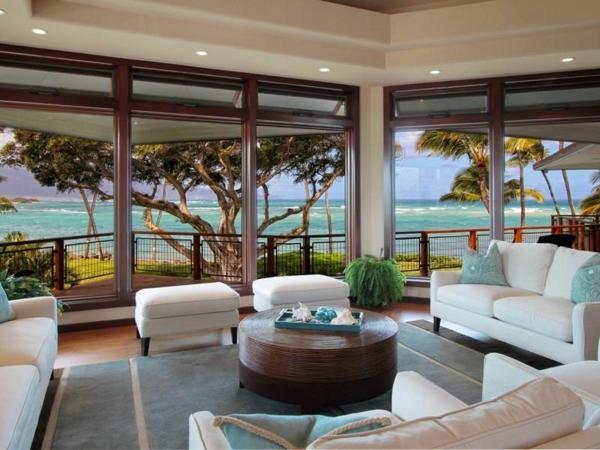Residenz auf Hawaii mit einem sehr kreativen Design strand meer sitzplatz