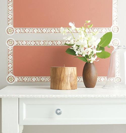 Wanddekoration mit wundervollen modernen Aufklebern  elegant