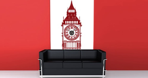 Wanddekoration mit wundervollen modernen Aufklebern rot little ben