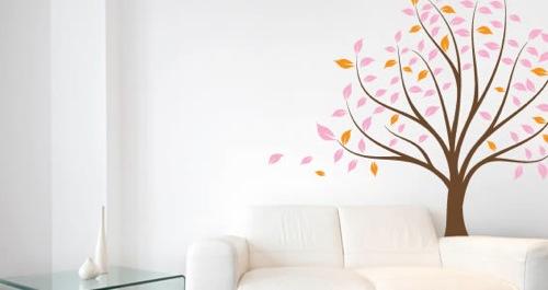 Wanddekoration mit wundervollen modernen Aufklebern tattoo baum