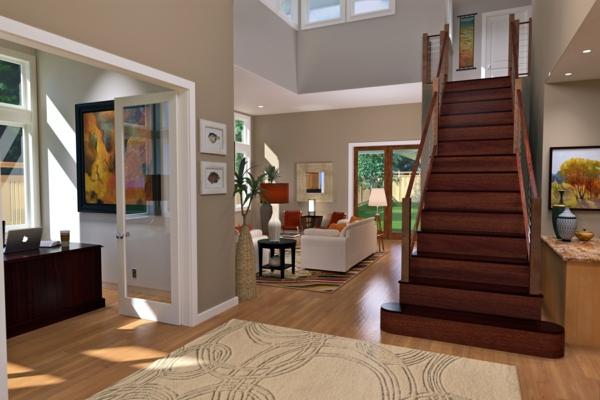 absolutes no-go der renovierung elegante treppe aus nussbaumholz