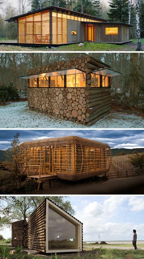 Fertighaus holz design  Der Preis von Bunyan: 19 attraktive Blockhaus Designs