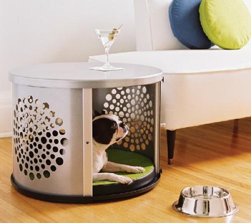attraktive möbel für haustiere bett hund metallisch