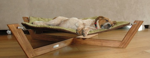 attraktive möbel für haustiere bett liege holz hund