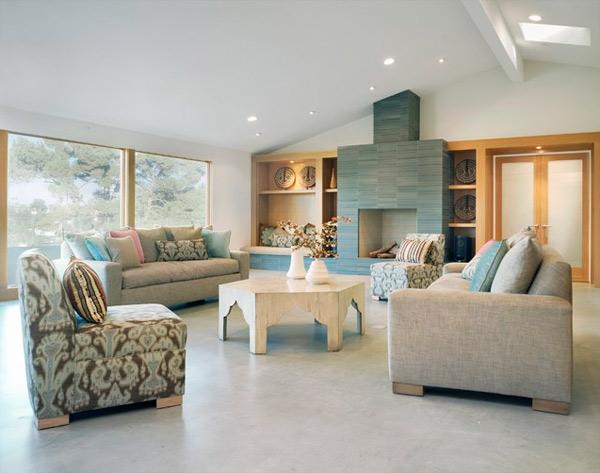 ausgefallenes Interior Design - Akzent grau möbel muster