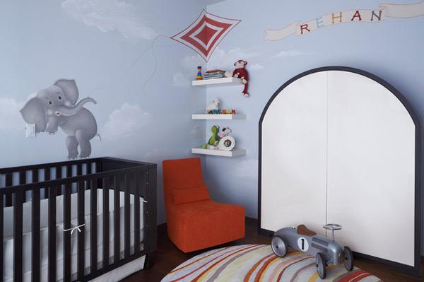ausgefallenes Interior Design - Akzent setzende Stühle babyzimmer