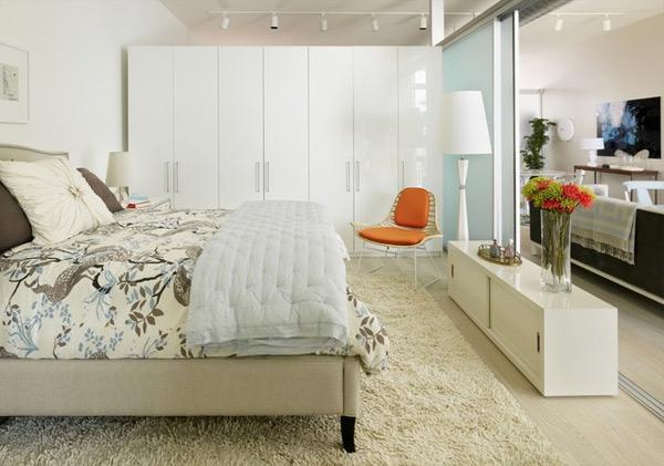 ausgefallenes Interior Design - Akzent setzende Stühle schlafzimmer orange