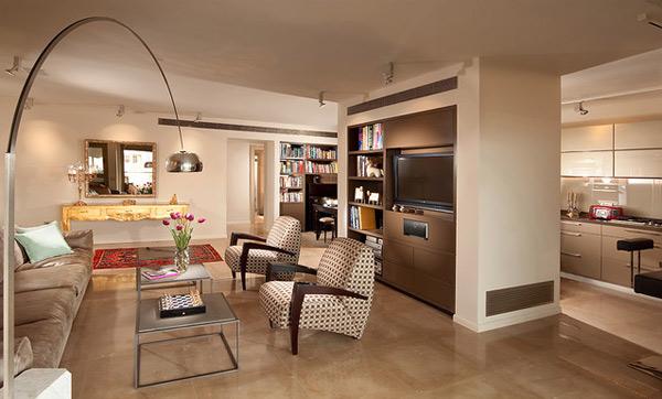 ausgefallenes Interior Design - Akzent setzende Stühle stehlampe bowl