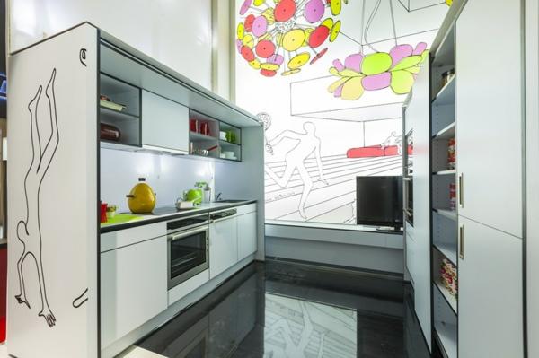ausziehbare regale verstecken modulare zimmer küche kochherd