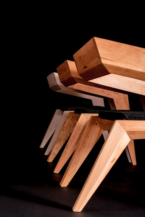 avantgarde holz stuhl designs originell stabil