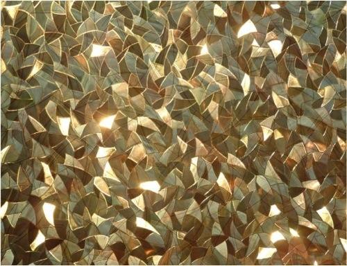 beispiele für wunderschöne fensterfolien goledene mosaik