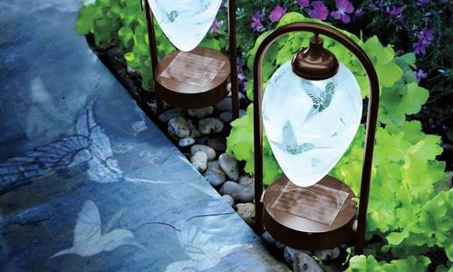 beleuchtung für garten veranda interessant verziert