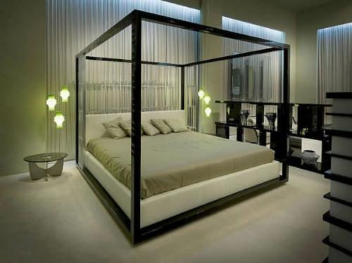 bequemes doppelbett rahmen gestell matratze modern