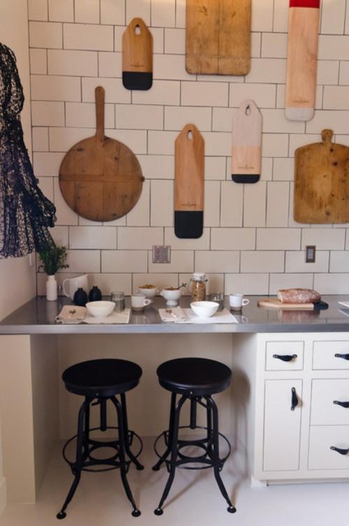 bessere Bäckerei zu Hause holz schiene fliesen arbeitsplatte