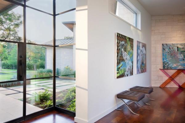 blanco haus in texas gläserne türe private kunstgalerie