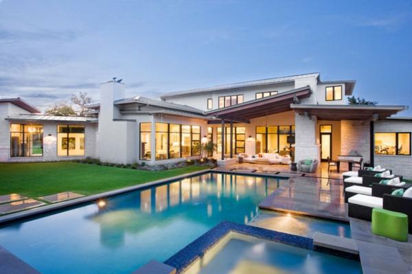 Blanco Haus In Texas Zweist Ckig In Wei Mit Au Enpool