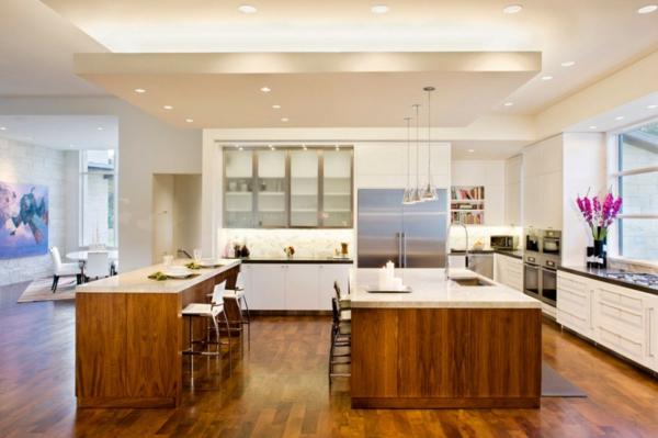 blanco haus in texas nahtloser übergang zwischen küche und wohnzimmer