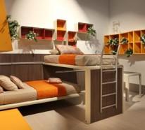 Bunte tolle Hochbetten für Kinder und Erwachsene – hervorragende Schlafzimmereinrichtungen