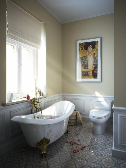 coole Bilder von Badezimmern badewanne klassisch design bild