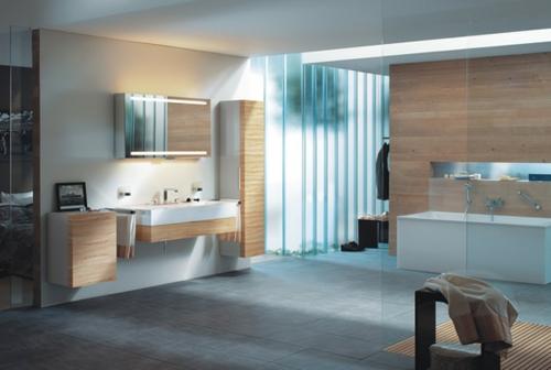 coole Bilder von Badezimmern holz möbel spiegel schrank