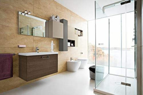coole Bilder von Badezimmern wandspiegel fliesen wc glas
