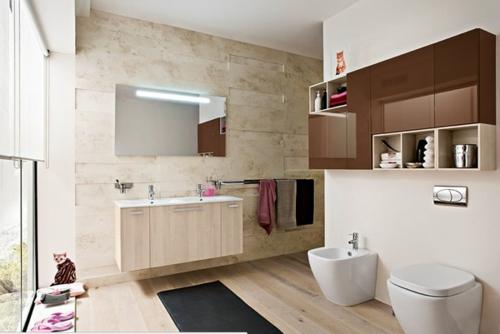 coole Bilder von Badezimmern wc wandspiegel holz bodenbelag