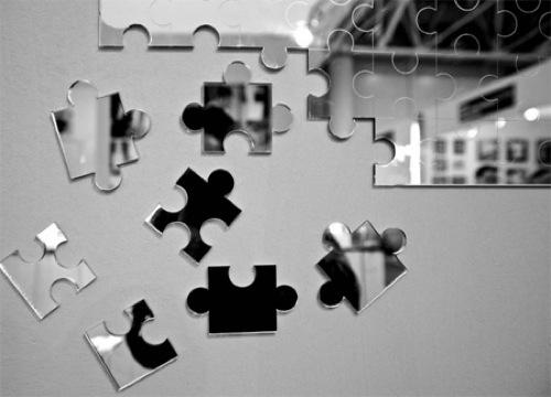 coole wandspiegel puzzle