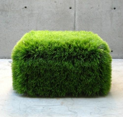 coole quadratisch sitzkissen designs gras kunst nancy favier