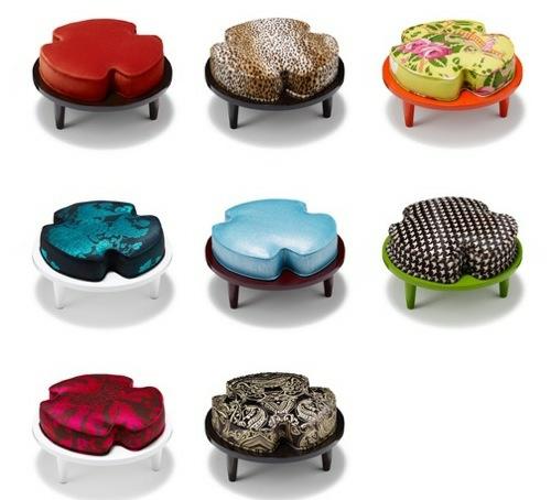 coole runde sitzkissen designs beine hocker muster interessant smith