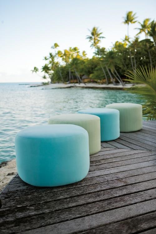 coole runde sitzkissen designs grün blau blass außenbereich brown jordan