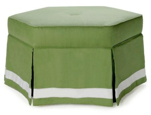 coole runde sitzkissen designs grün struktur streifen weiß