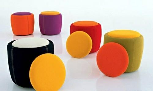 coole runde sitzkissen designs hocker jensen lewis
