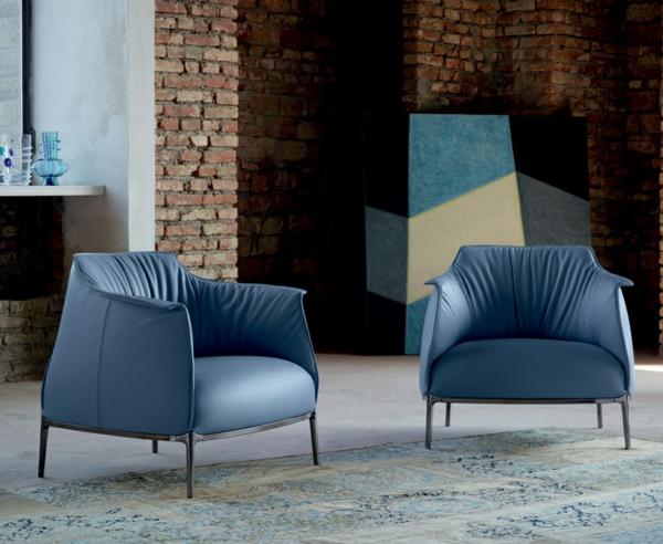 cooler luxus sessel einzigartiger kontrast zu backstein wände