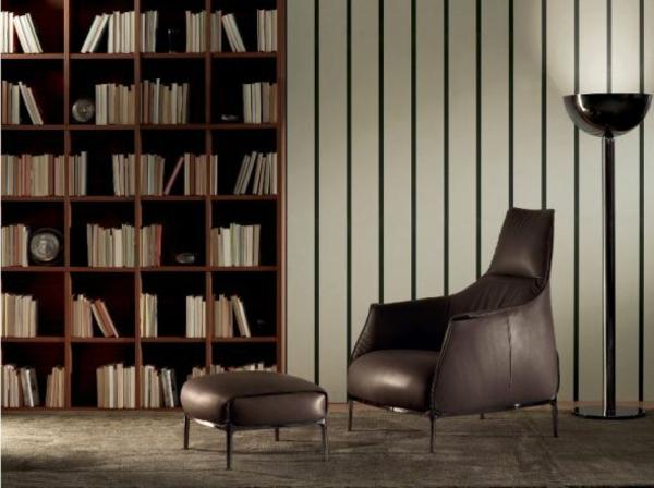 cooler luxus sessel perfekt für die private  bibliothek