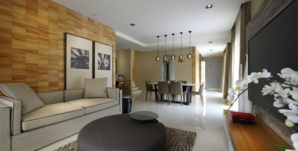 cooles stadthaus design idee originell interior wohnbereich wandgestaltung