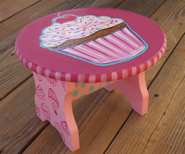cupcakes möbel designs niedrig rosa kinder tisch couchtisch