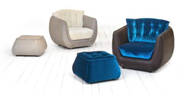 cupcakes möbel designs sessel polsterung blau samt königsblau