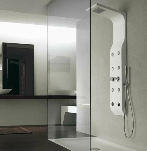 dampfdusche badezimmer glaswände dusche