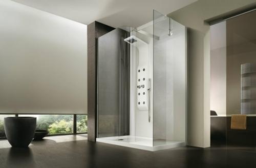 dampfdusche badezimmer minimalistsisch entspannend